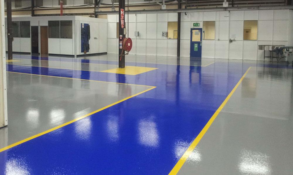 large area concrete floor